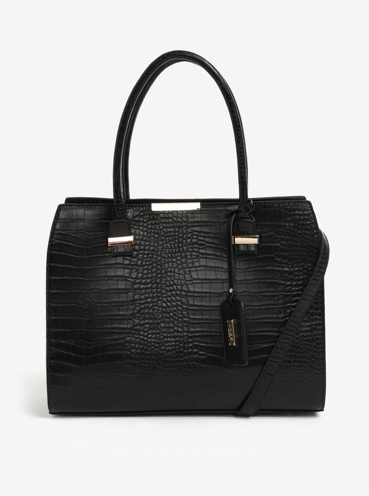 Černá kabelka s jemně plastickým vzorem LYDC