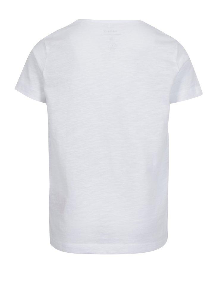 Bílé klučičí tričko s potiskem name it Hector