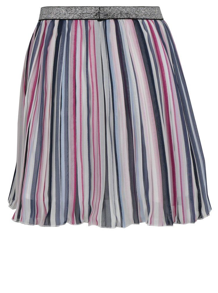 Modro-krémová pruhovaná holčičí sukně name it Hainbow