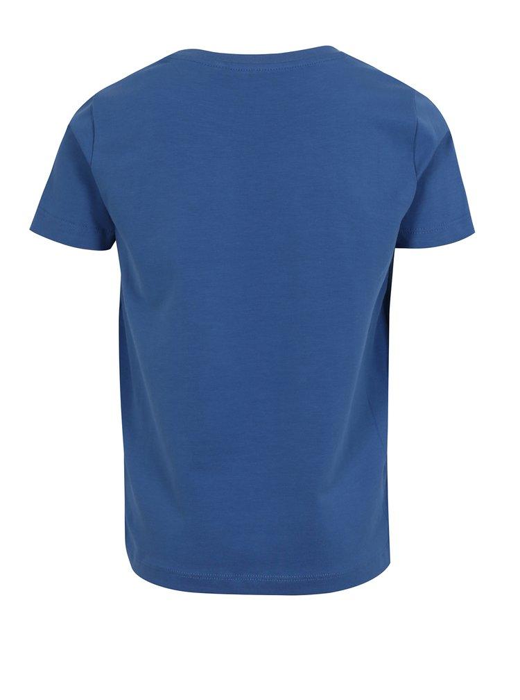 Tmavě modré klučičí tričko s potiskem name it Vux