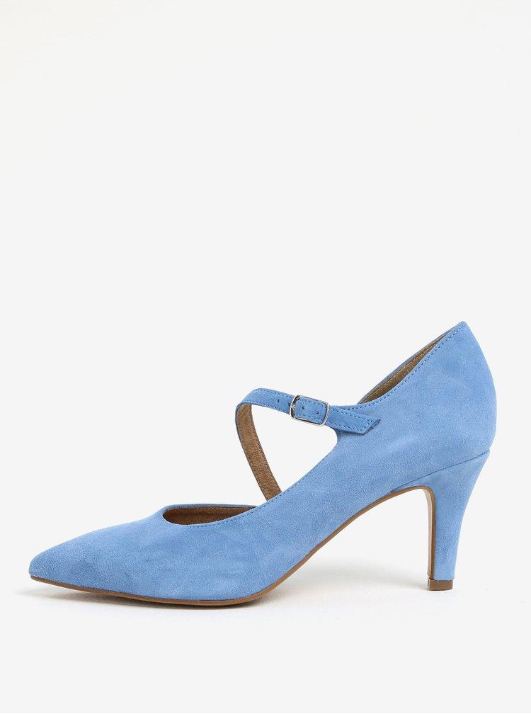 Modré semišové lodičky Tamaris