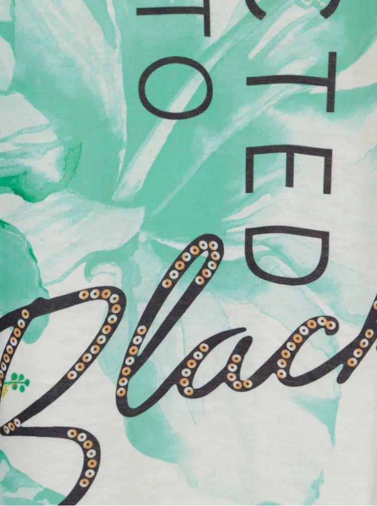 Krémovo-zelené květované tričko a krátkým rukávem Madonna