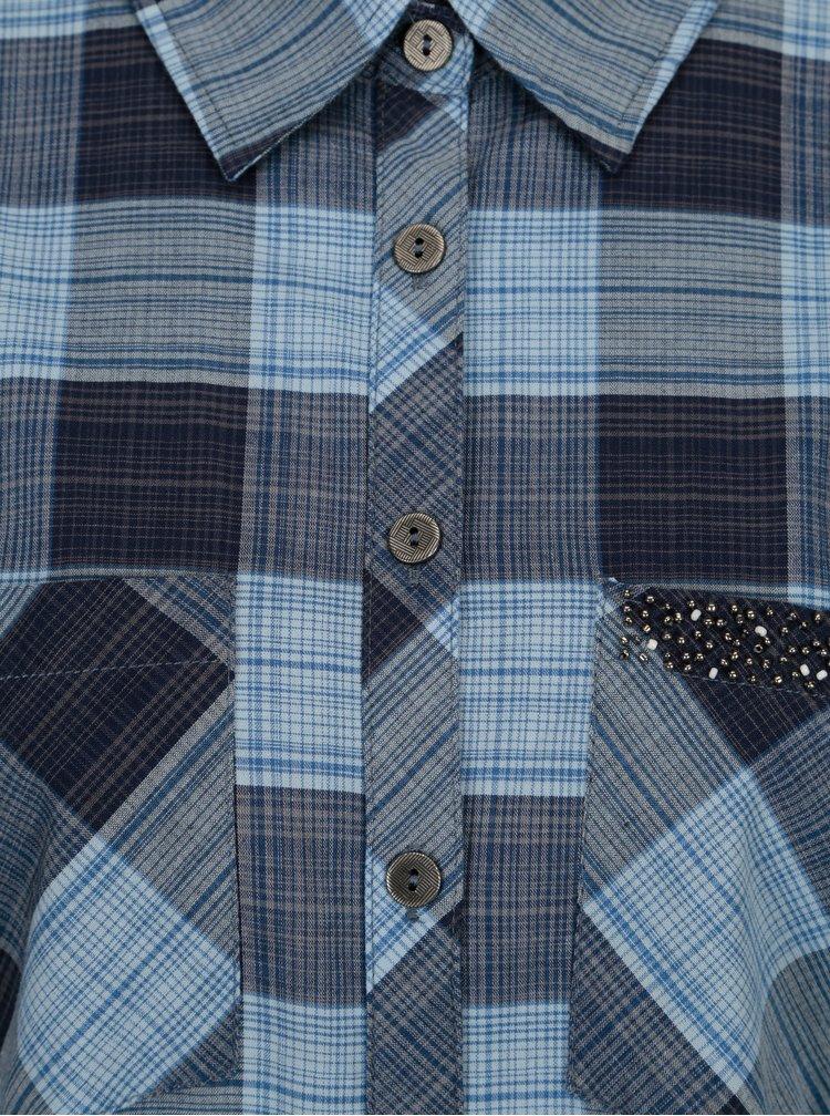 Modrá kostkovaná košile Yest
