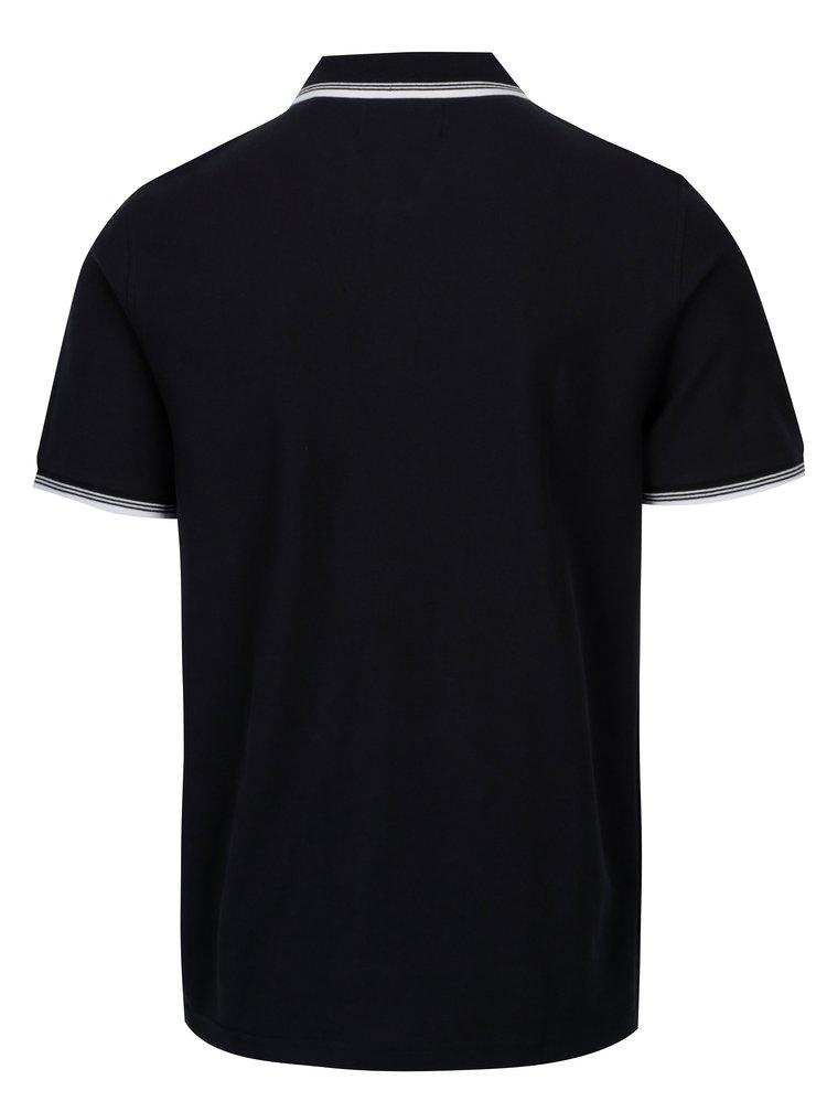 Tmavě modré polo tričko s bílými detaily Original Penguin