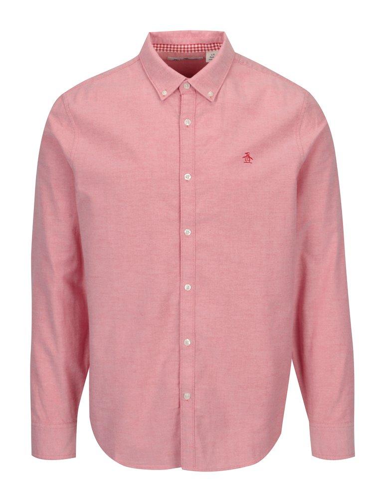 Růžová košile s dlouhým rukávem Original Penguin