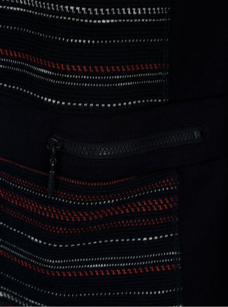Tmavomodré vzorované sako Yest