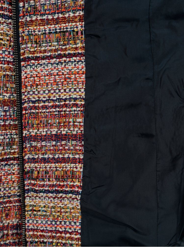 Hnědo-krémové vzorované sako Yest