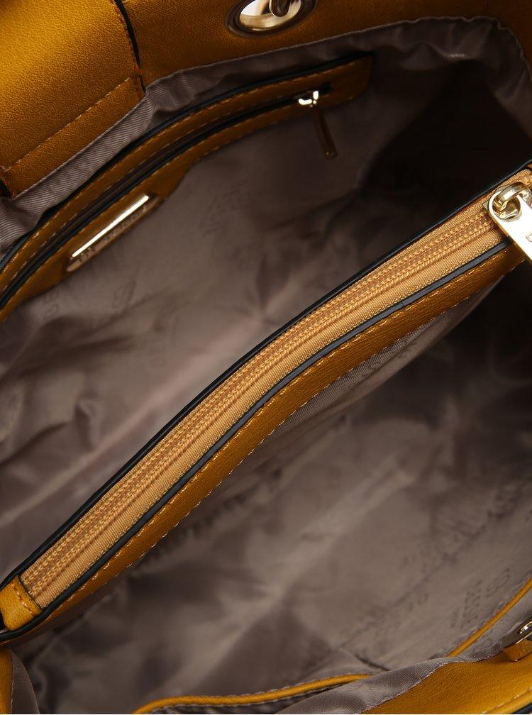 Geanta galbena cu detalii aurii - Bessie London