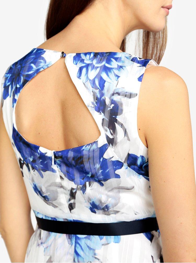 Rochie alba cu print floral si decupaj la spate M&Co