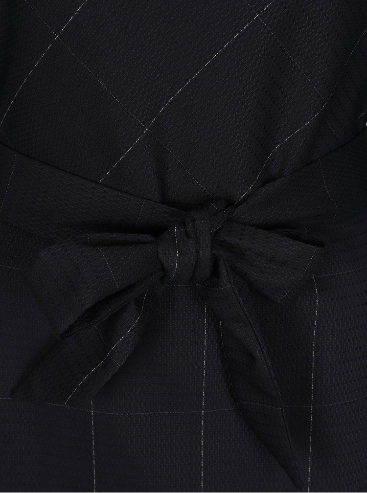 Tmavomodré dámske šaty s 3/4 rukávom Pietro Filipi