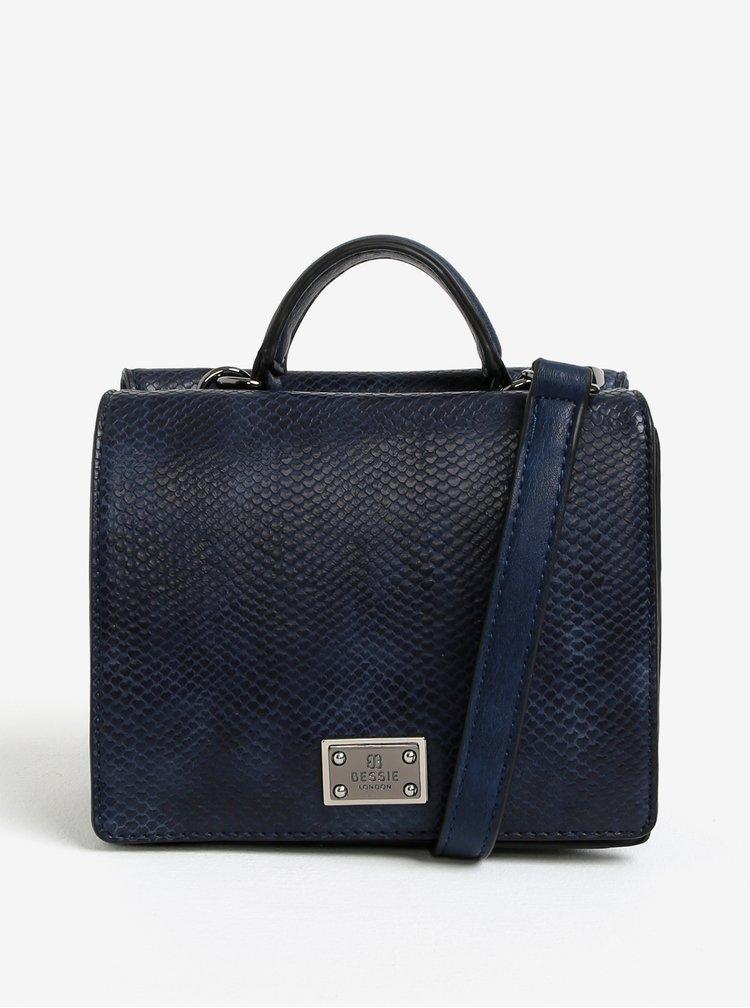 Modrá vzorovaná crossbody kabelka Bessie London