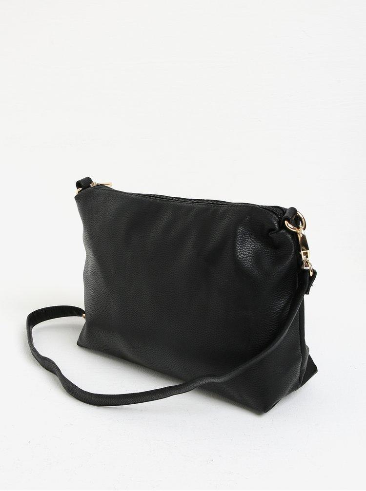 Geanta shopper neagra 2in1 cu portofel atasat - Bessie London