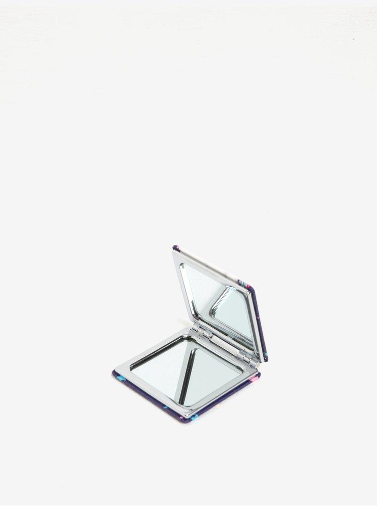 Tmavě fialové kompaktní zrcátko s motivem jednorožce Disaster Candy Pop