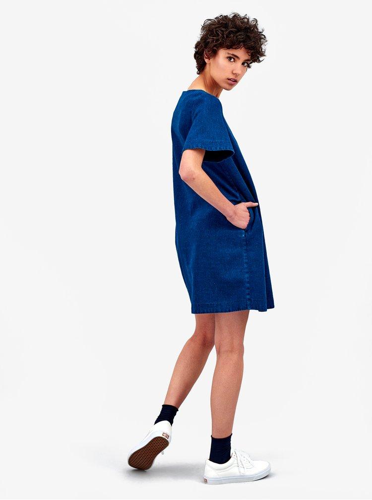 Modré džínové konopné šaty Kings of Indigo Cherith