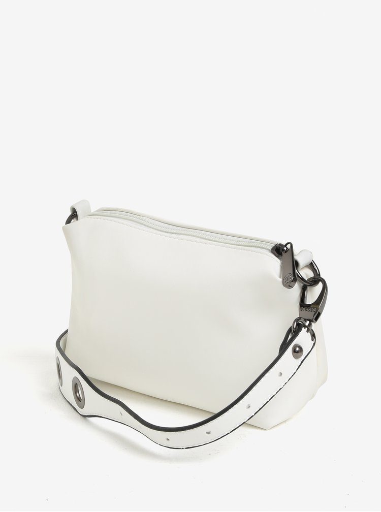 Bílá vaková kabelka s malou kabelkou 2v1 Bessie London