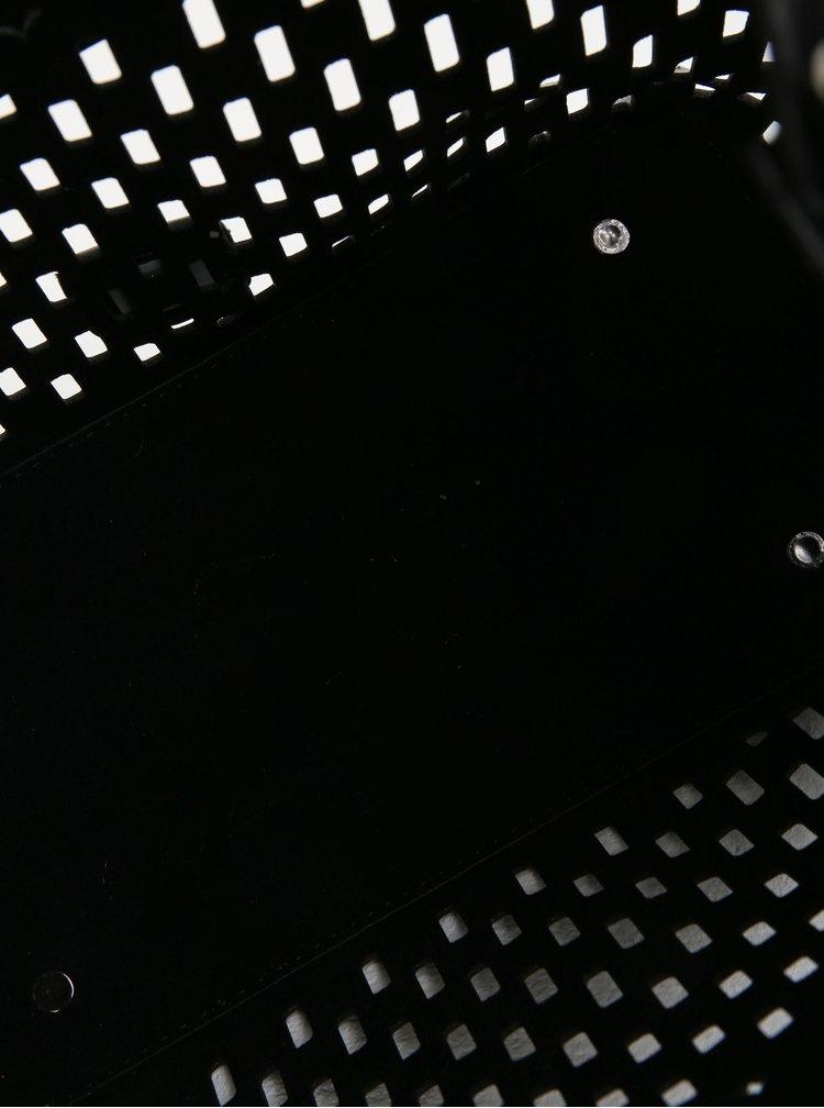 Geanta neagra 2in1 cu perforatii - Bessie London