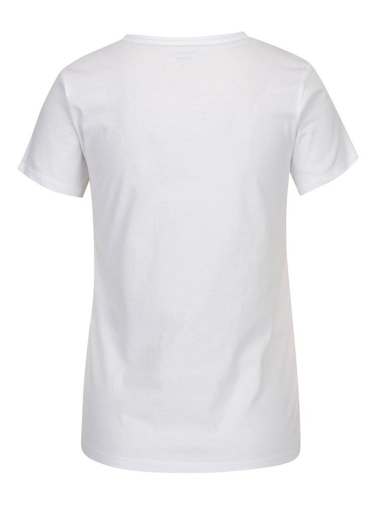 Bílé tričko s potiskem ONLY RIVA Work