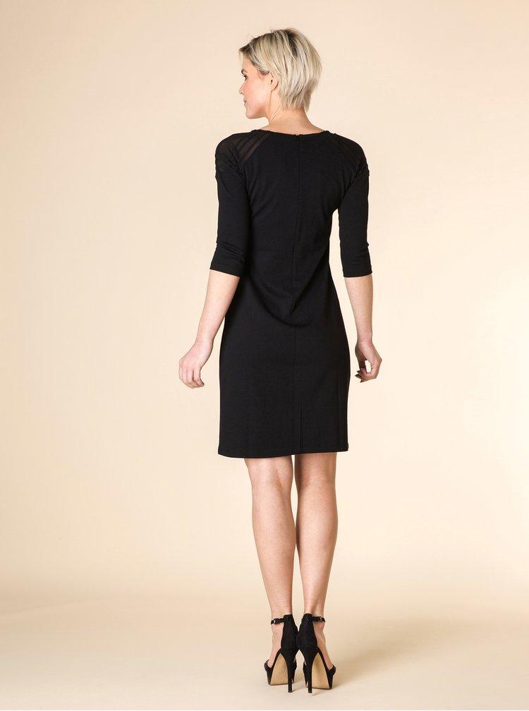 Čierne šaty s 3/4 rukávom Yest
