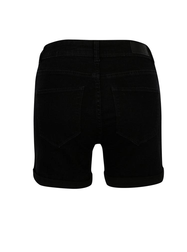 Černé džínové kraťasy VERO MODA Seven