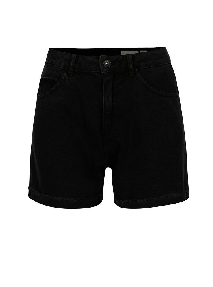 Pantaloni scurti negri din denim - VERO MODA Nineteen