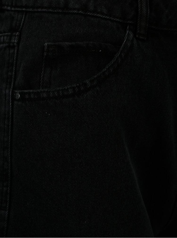 Čierne rifľové kraťasy s vysokým pásom VERO MODA Nineteen