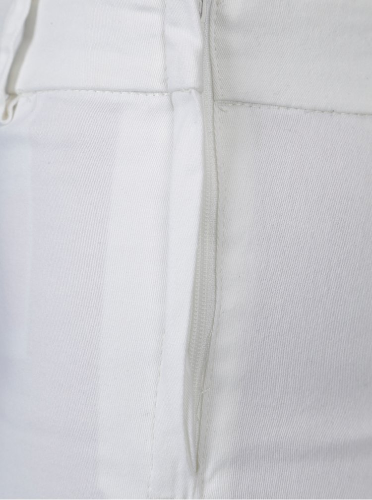 Pantaloni albi cu fermoar lateral - Jacqueline de Yong