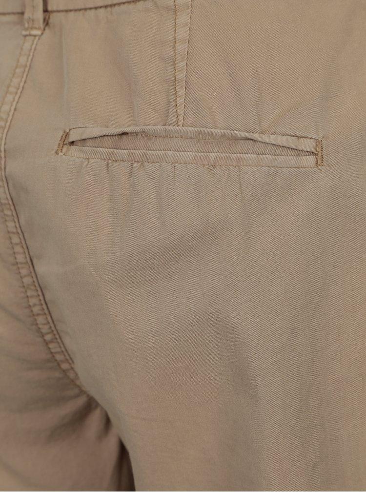 Pantaloni chino scurti bej cu curea - VERO MODA Flame