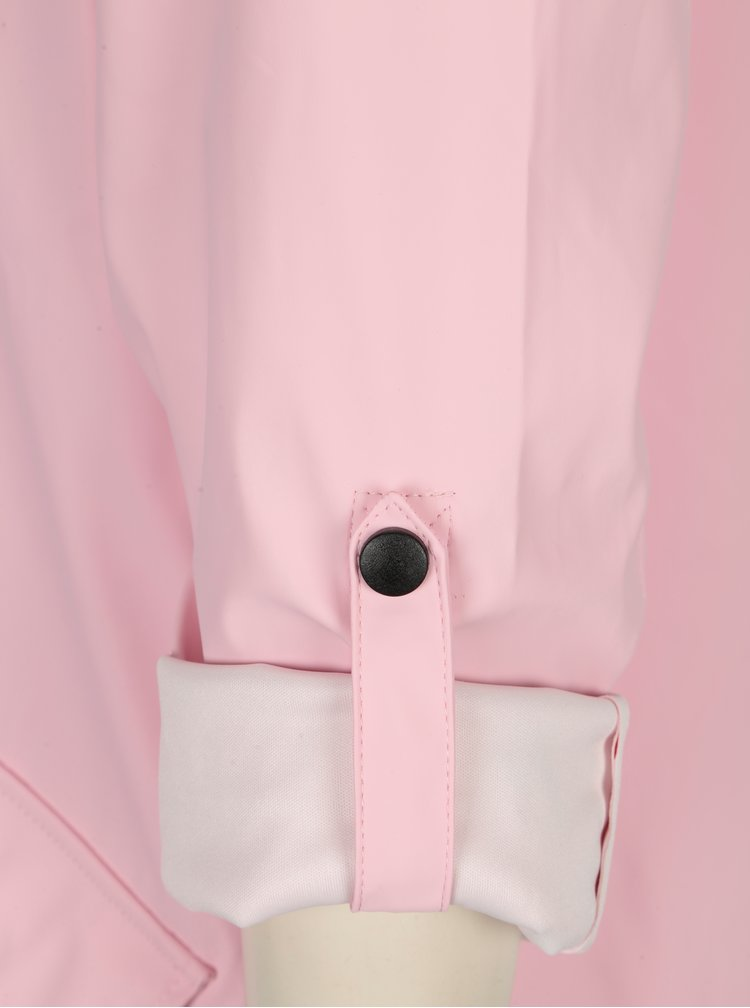 Světle růžová pláštěnka s kapucí VERO MODA Sunset