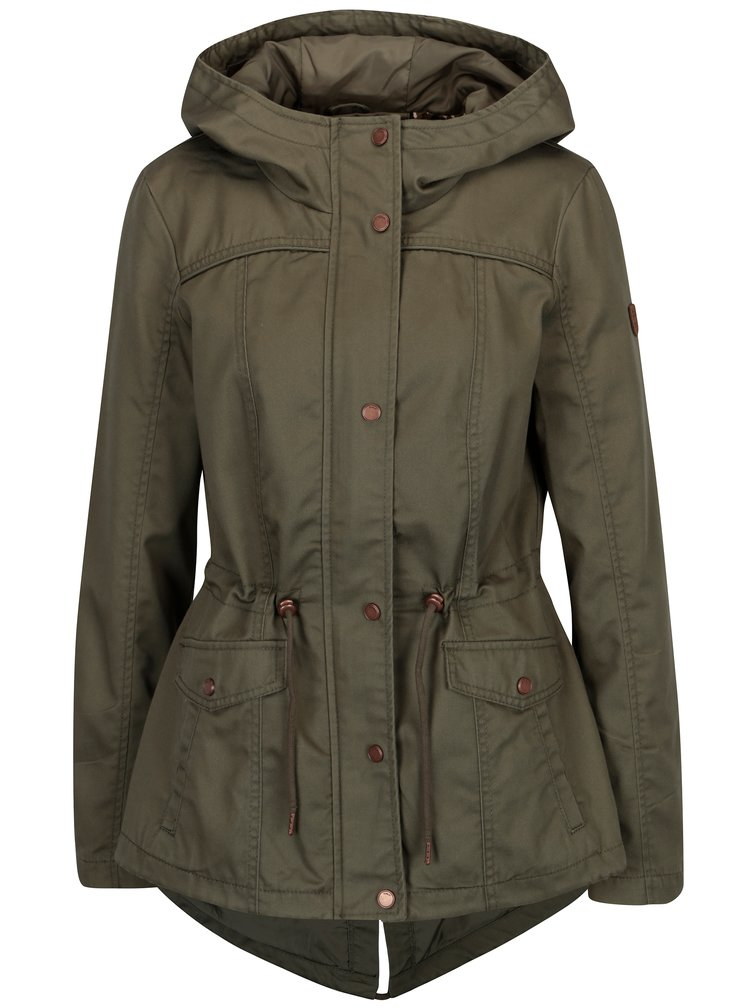 Kaki krátka parka s kapucňou ONLY New Kate