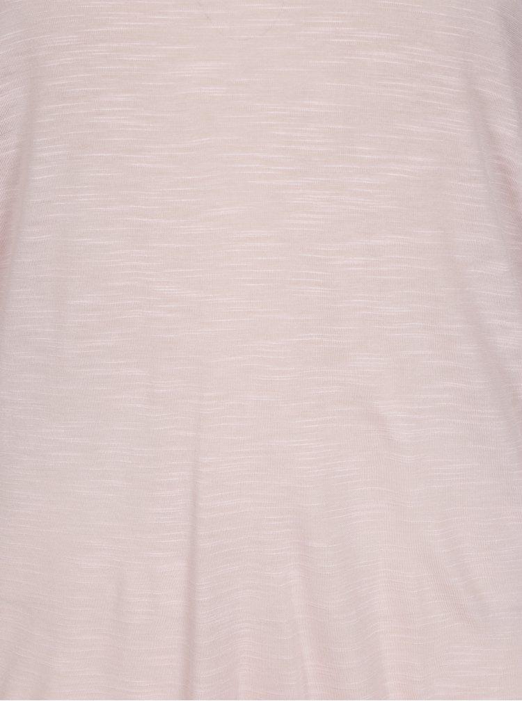 Světle růžové tričko s krajkou na zádech Blendshe Bianca