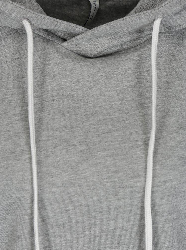 Světle šedá žíhaná mikina s kapucí Blendshe Peta