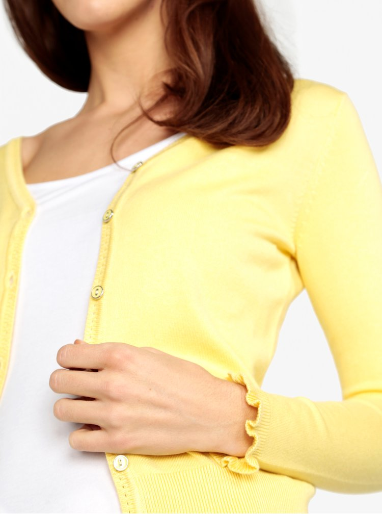 Světle žlutý kardigan M&Co