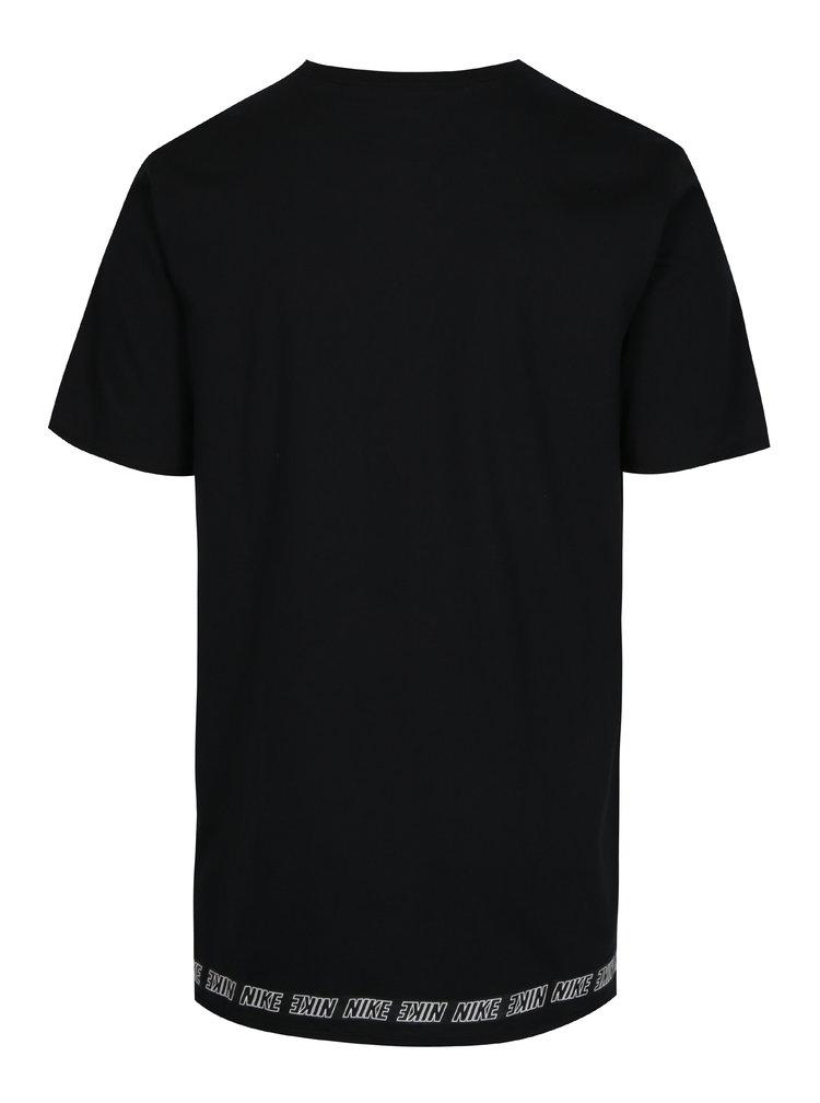 Černé pánské dlouhé tričko s potiskem Nike