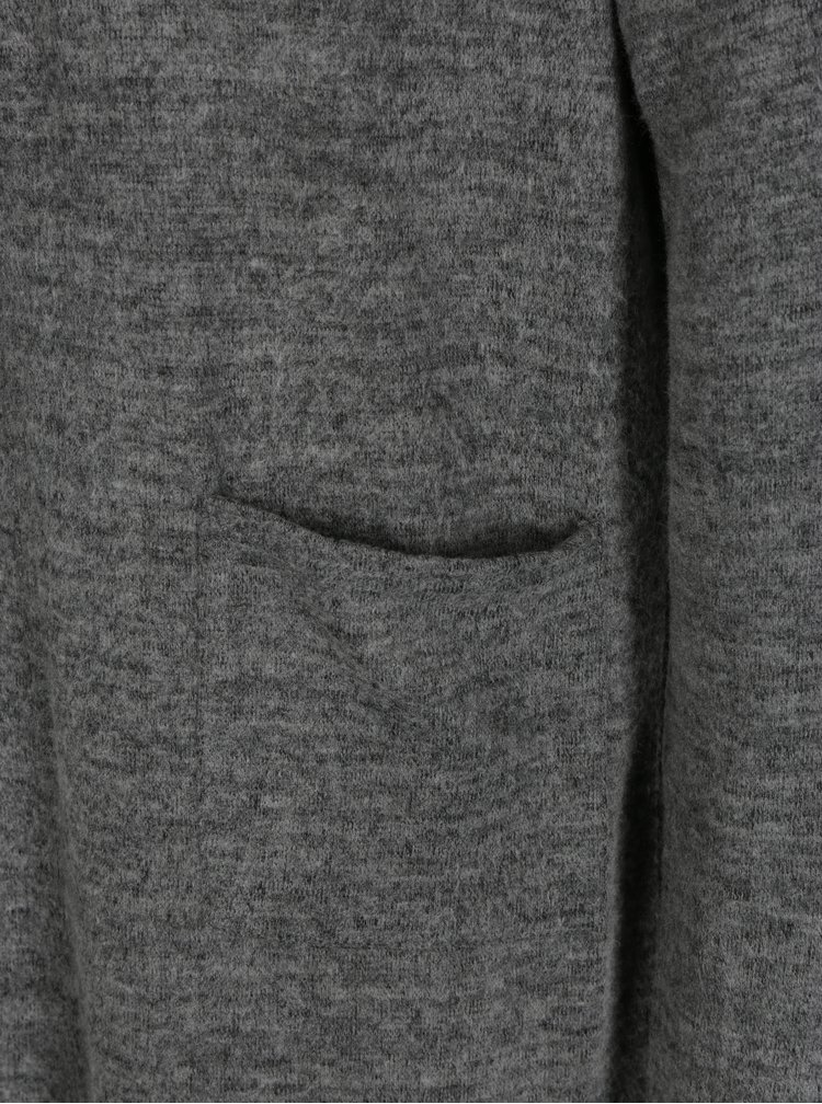 Tmavě šedý žíhaný kardigan TALLY WEiJL