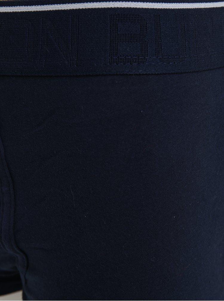 Sada tří boxerek v tmavě modré barvě Burton Menswear London