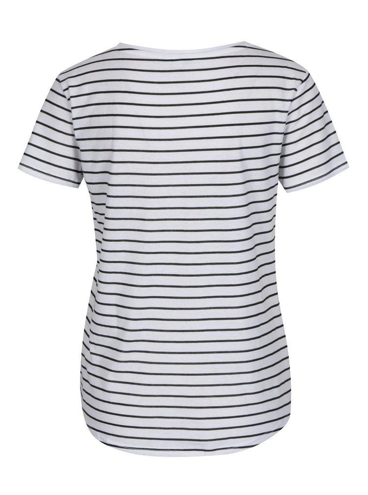 Bílé pruhované tričko TALLY WEiJL