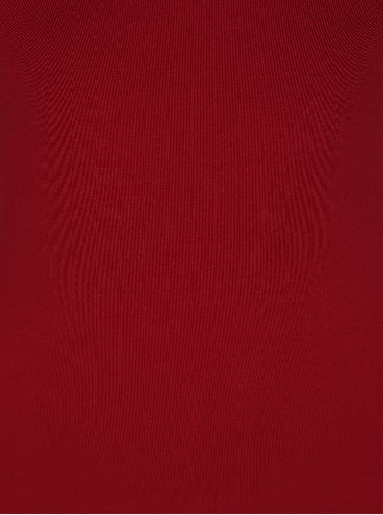 Červené tílko se šněrováním v dekoltu TALLY WEiJL