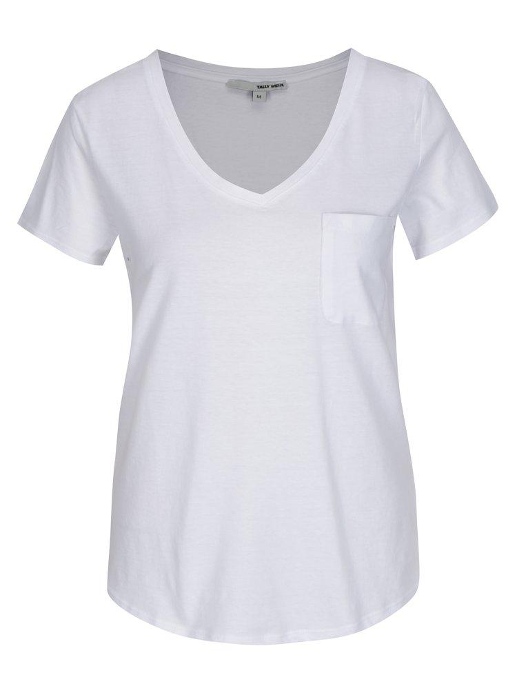 Biele tričko s vreckom TALLY WEiJL