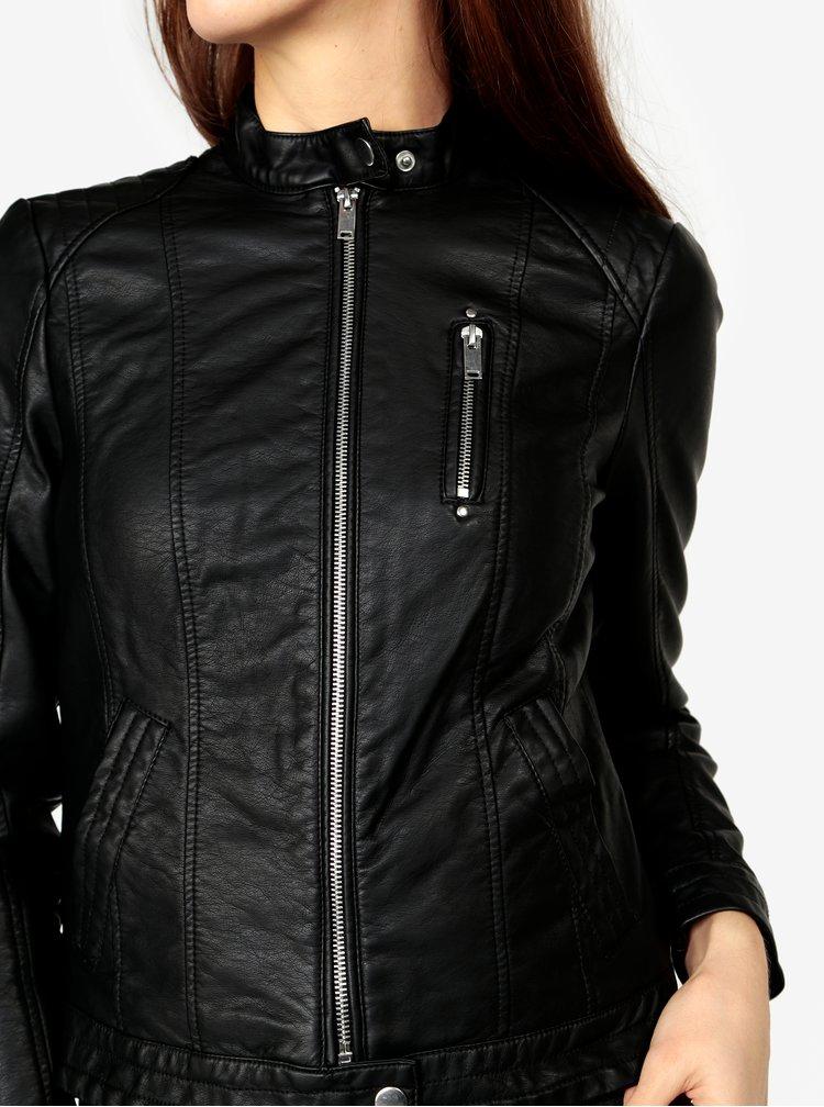 Černá koženková bunda VERO MODA California