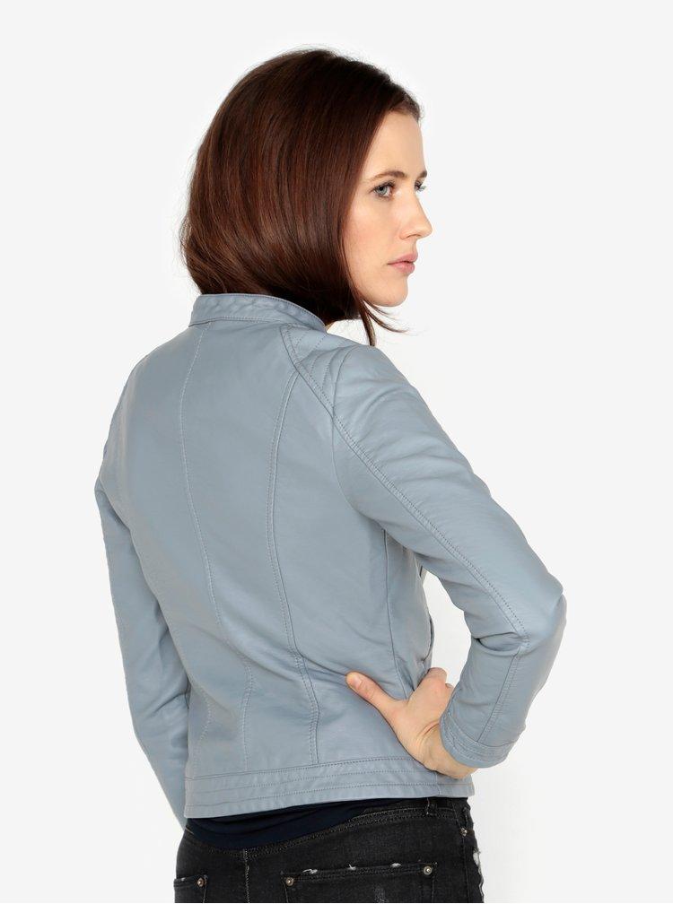 Světle modrá koženková bunda VERO MODA California