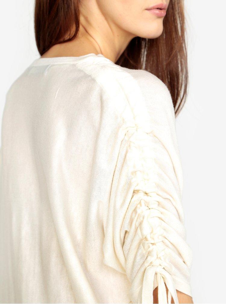 Krémový volný svetr s netopýřími rukávy VERO MODA Adriana