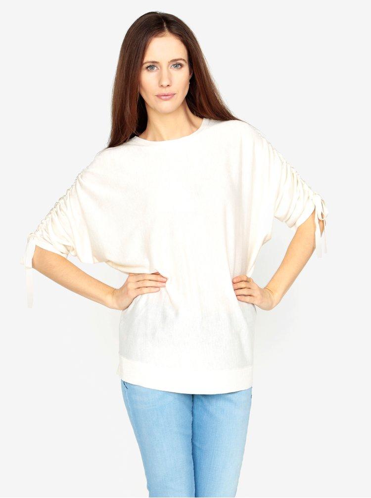 Krémový volný svetr s rukávy na stahování VERO MODA Adriana