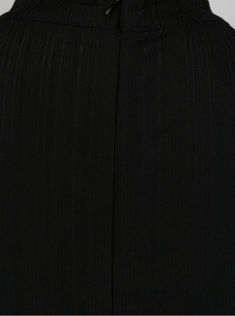 Salopeta neagra cu guler choker Mela London