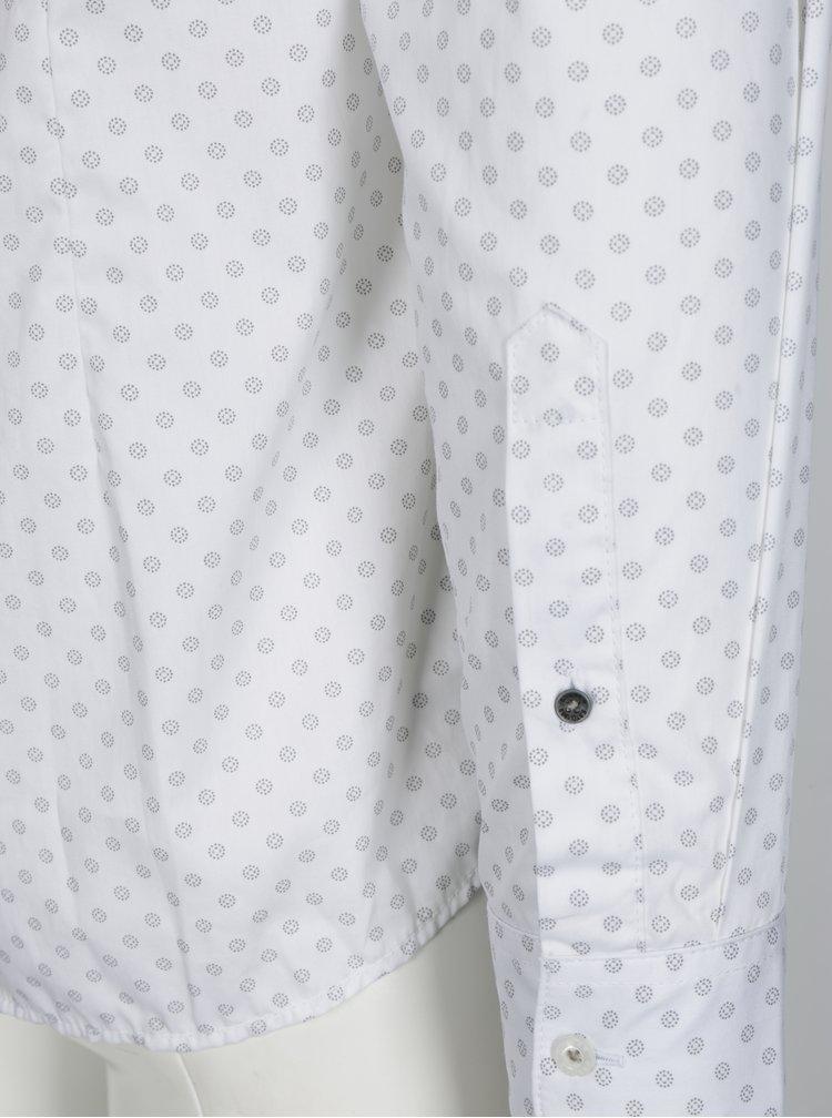 Bílá vzorovaná pánská slim fit košile s.Oliver