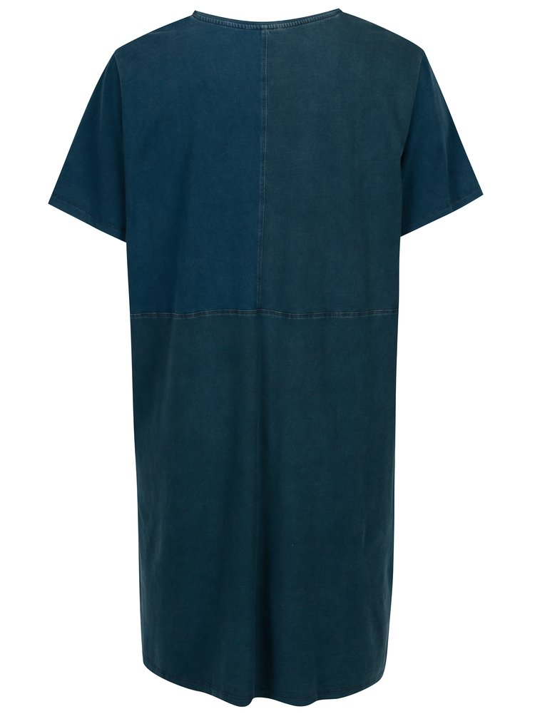 Modré vzorované šaty Ulla Popken
