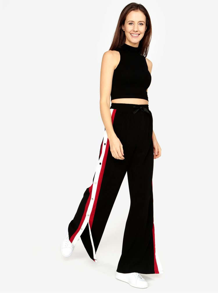 Černé kalhoty s vysokým pasem MISSGUIDED