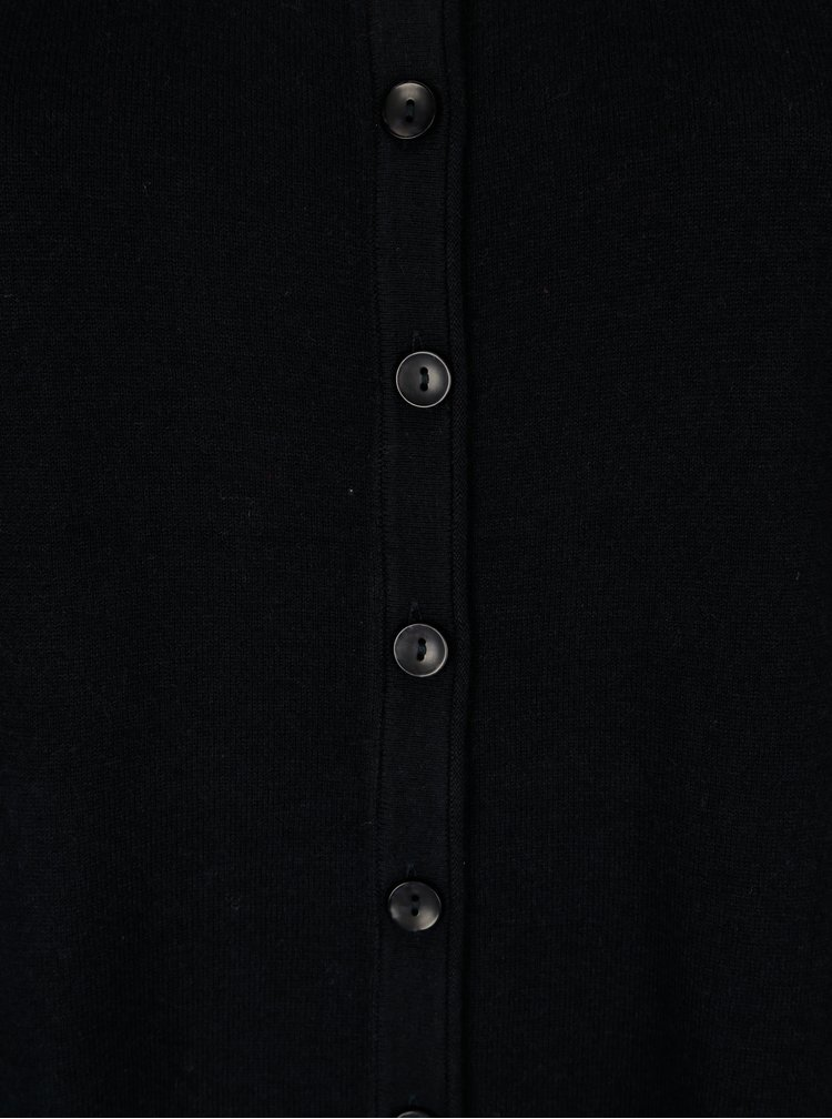 Tmavě modrý svetr s knoflíky Ulla Popken