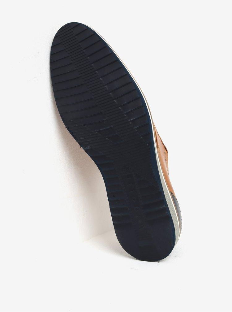 Pantofi maro din piele cu model perforat - bugatti Conte
