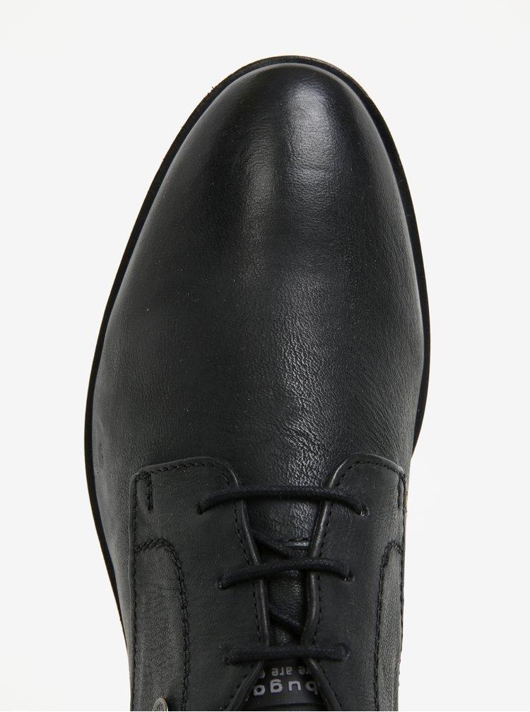 Černé pánské kožené polobotky bugatti Lothario