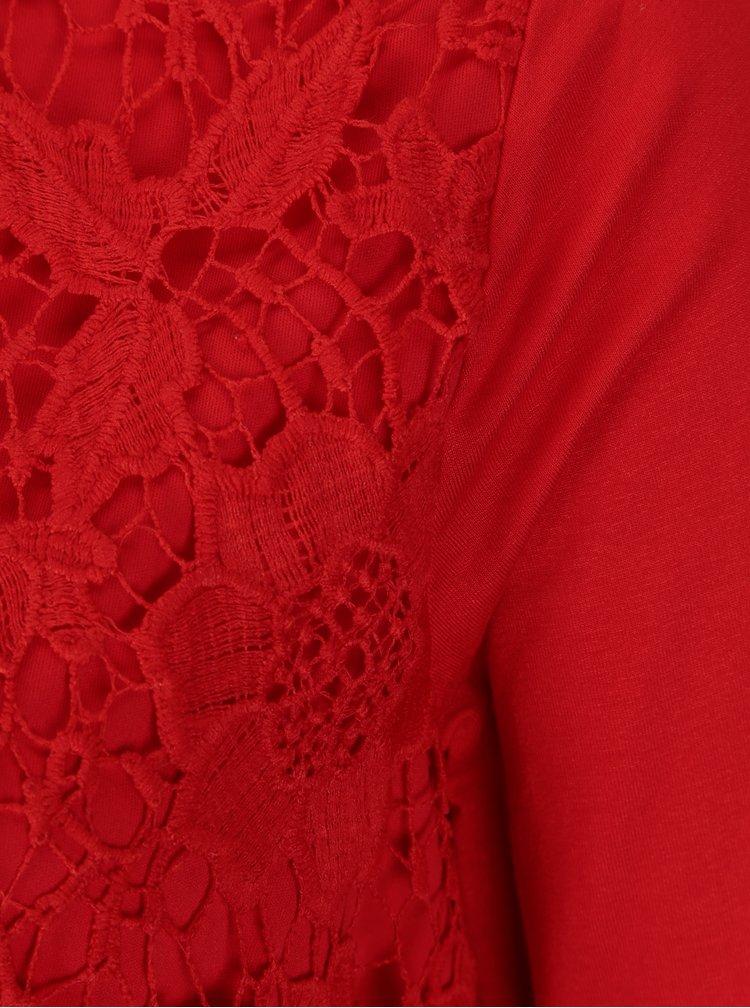 Červená dámská krajková halenka M&Co